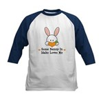 Some Bunny In Idaho Loves Me Kids Baseball Jersey