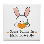 Some Bunny In Idaho Loves Me Tile Coaster