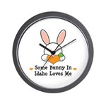 Some Bunny In Idaho Loves Me Wall Clock