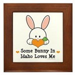 Some Bunny In Idaho Loves Me Framed Tile