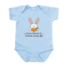 Some Bunny In Illinois Loves Me Infant Bodysuit