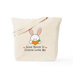 Some Bunny In Illinois Loves Me Tote Bag