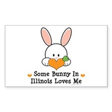 Some Bunny In Illinois Loves Me Decal