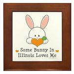 Some Bunny In Illinois Loves Me Framed Tile