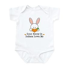 Some Bunny In Indiana Loves Me Infant Bodysuit