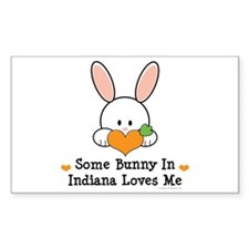 Some Bunny In Indiana Loves Me Decal