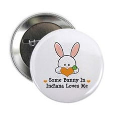 "Some Bunny In Indiana Loves Me 2.25"" Button"
