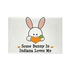 Some Bunny In Indiana Loves Me Rectangle Magnet