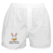 Some Bunny In Indiana Loves Me Boxer Shorts