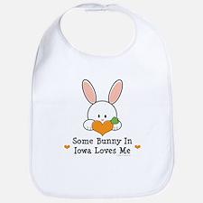 Some Bunny In Iowa Loves Me Bib