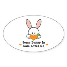 Some Bunny In Iowa Loves Me Decal