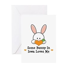 Some Bunny In Iowa Loves Me Greeting Card