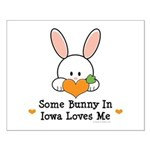 Some Bunny In Iowa Loves Me Small Poster