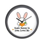 Some Bunny In Iowa Loves Me Wall Clock