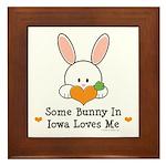 Some Bunny In Iowa Loves Me Framed Tile