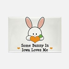 Some Bunny In Iowa Loves Me Rectangle Magnet