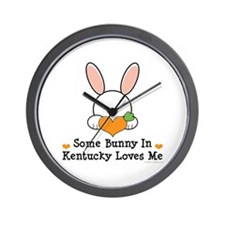Some Bunny In Kentucky Loves Me Wall Clock