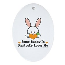 Some Bunny In Kentucky Loves Me Ornament (Oval)