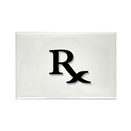Pharmacy Rx Symbol Rectangle Magnet