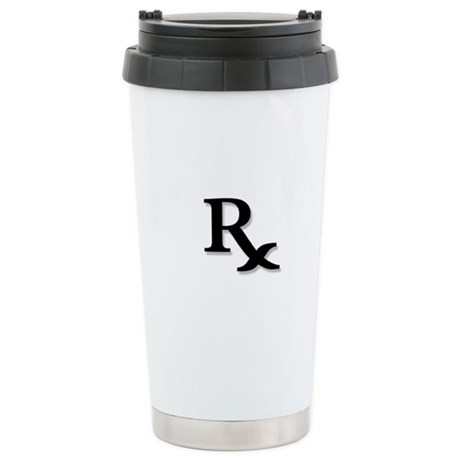 Pharmacy Rx Symbol Stainless Steel Travel Mug