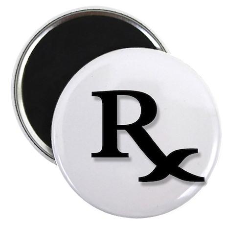"Pharmacy Rx Symbol 2.25"" Magnet (100 pack)"