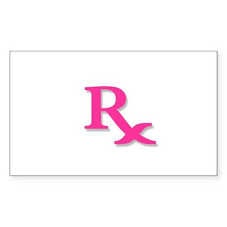 Pharmacy Rx Symbol Sticker (Rectangle)