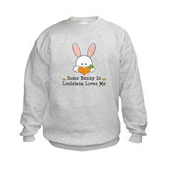 Some Bunny In Louisiana Loves Me Kids Sweatshirt