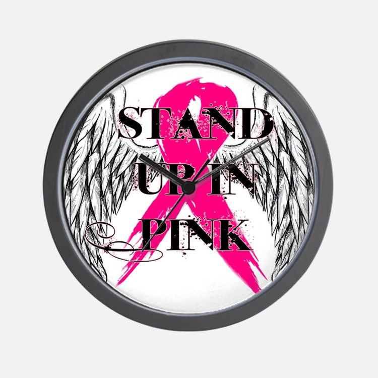 Stand Up In Pink Wall Clock