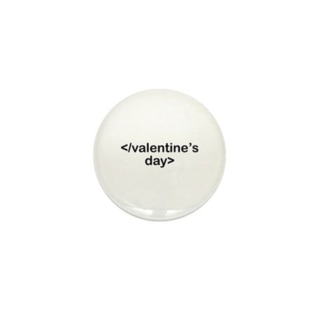 Stop Valentine's Day Mini Button (10 pack)