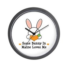 Some Bunny In Maine Loves Me Wall Clock