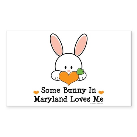 Some Bunny In Maryland Loves Me Sticker (Rectangle