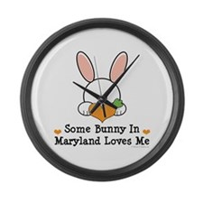 Some Bunny In Maryland Loves Me Large Wall Clock