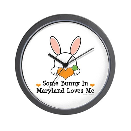 Some Bunny In Maryland Loves Me Wall Clock