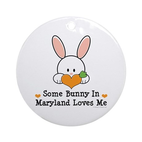Some Bunny In Maryland Loves Me Ornament (Round)