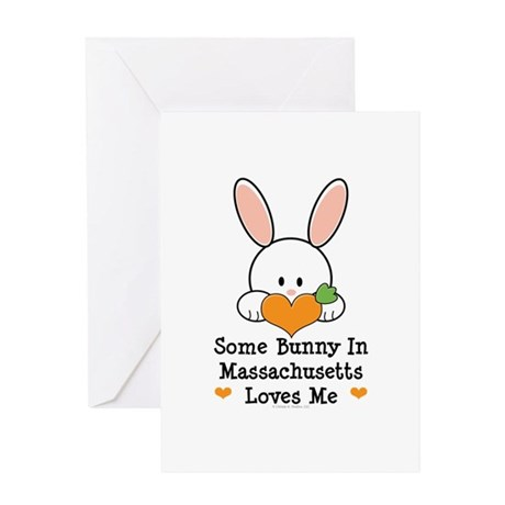 Some Bunny In Massachusetts Greeting Card
