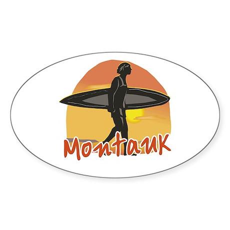 Montauk Surf Sticker (Oval)