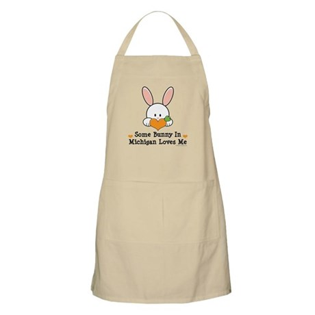 Some Bunny In Michigan Loves Me Apron