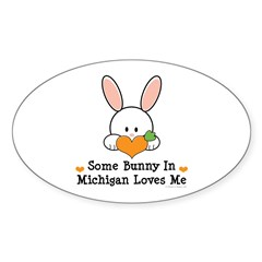 Some Bunny In Michigan Loves Me Decal