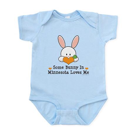 Some Bunny In Minnesota Loves Me Infant Bodysuit