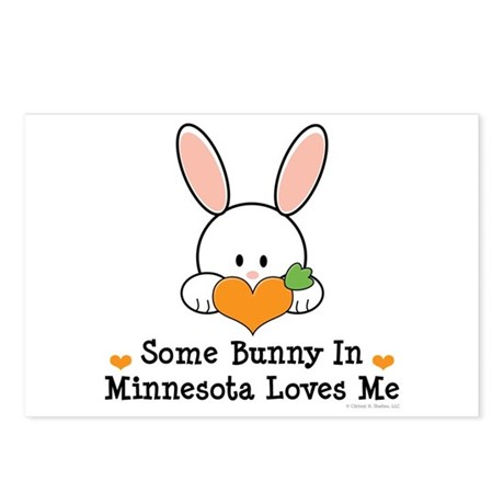Some Bunny In Minnesota Loves Me Postcards (Packag