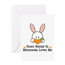 Some Bunny In Minnesota Loves Me Greeting Card