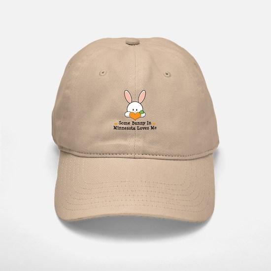 Some Bunny In Minnesota Loves Me Baseball Baseball Cap