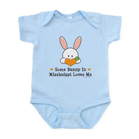 Some Bunny In Mississippi Loves Me Infant Bodysuit
