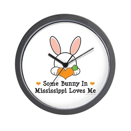 Some Bunny In Mississippi Loves Me Wall Clock