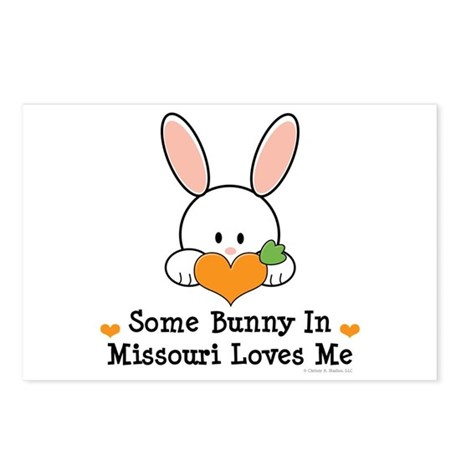 Some Bunny In Missouri Loves Me Postcards (Package