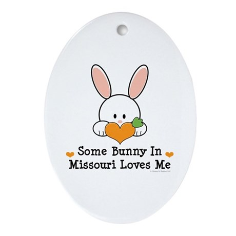Some Bunny In Missouri Loves Me Ornament (Oval)