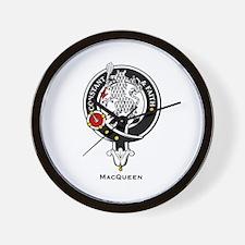 MacQueen Clan Crest Badge Wall Clock