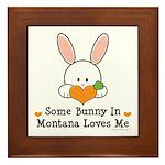 Some Bunny In Montana Loves Me Framed Tile