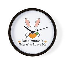 Some Bunny In Nebraska Loves Me Wall Clock