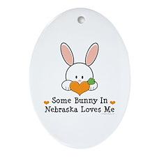 Some Bunny In Nebraska Loves Me Ornament (Oval)